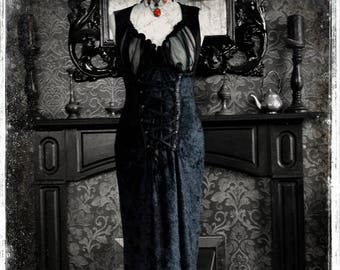 5eb738611d Bespoke Velvet and Chiffon Deadly Gothic Vampire Lillith Dress Gothic Gown  by House of Goth. Perfect for Halloween