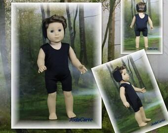 AG Boy Doll -- Black Wrestling Singlet with Headgear