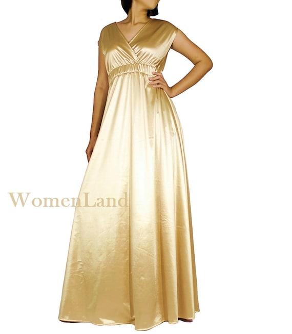 WomenLand: Handmade Deep V Neck Empire Waist Evening Gown | Etsy