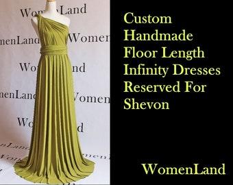 WomenLand : Reserved listing for Shevon ~ Custom Handmade Floor Length Chartreuse Green Wedding Bridal Party Versatile Infinity Wrap Dress