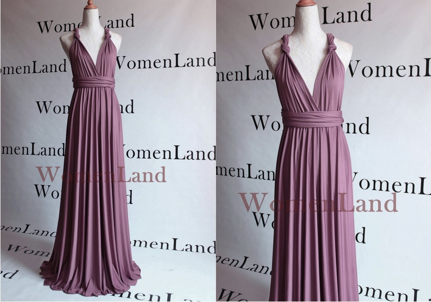 Mauve Color Floor Length Infinity Wrapping Convertible Etsy