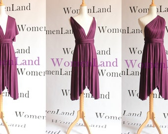 Knee Length Infinity Wrap Butterfly Hemline Versatile Dress Convertible Women Wedding Party Bridesmaid Tailor Made All Season Short Dresses