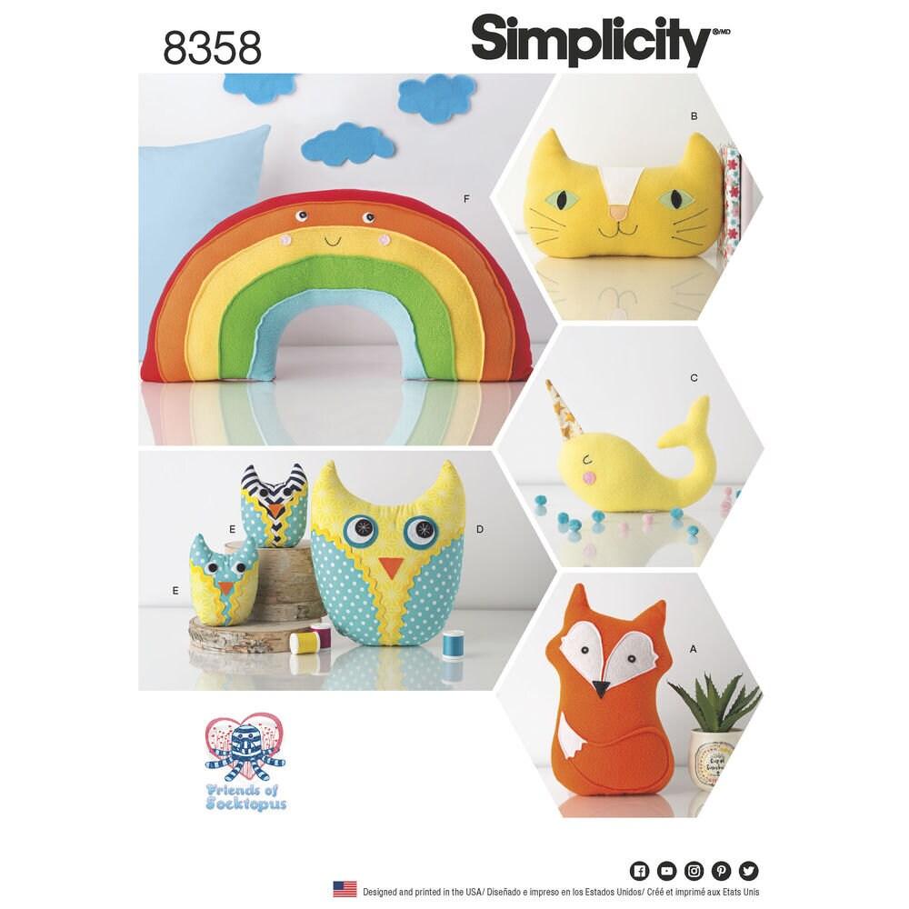 Einfachheit Muster 8358 ausgestopfte Tiere