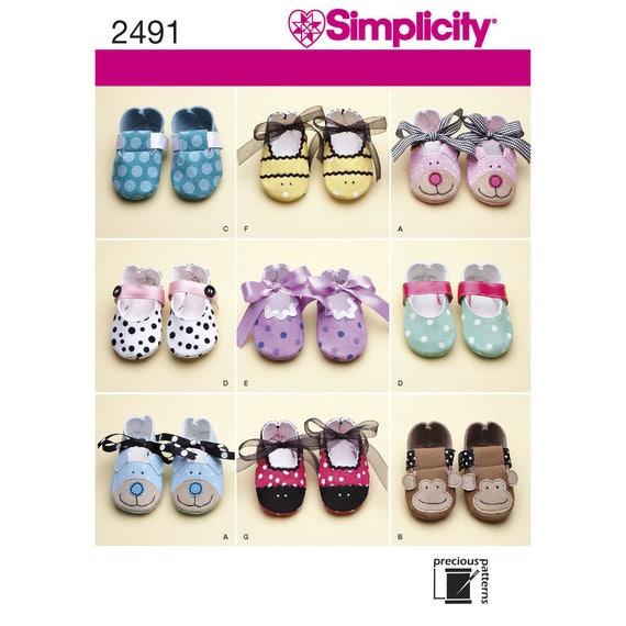 Botitas de bebé simplicidad patrón 2491 tamaño una XS S M L | Etsy