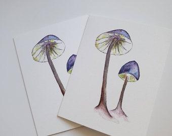 Woodland Watercolour Mushroom Card