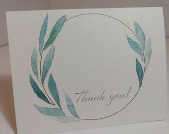"""Eucalyptus """"Thank You"""" Cards"""