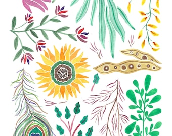 August Nature Collection Art Print