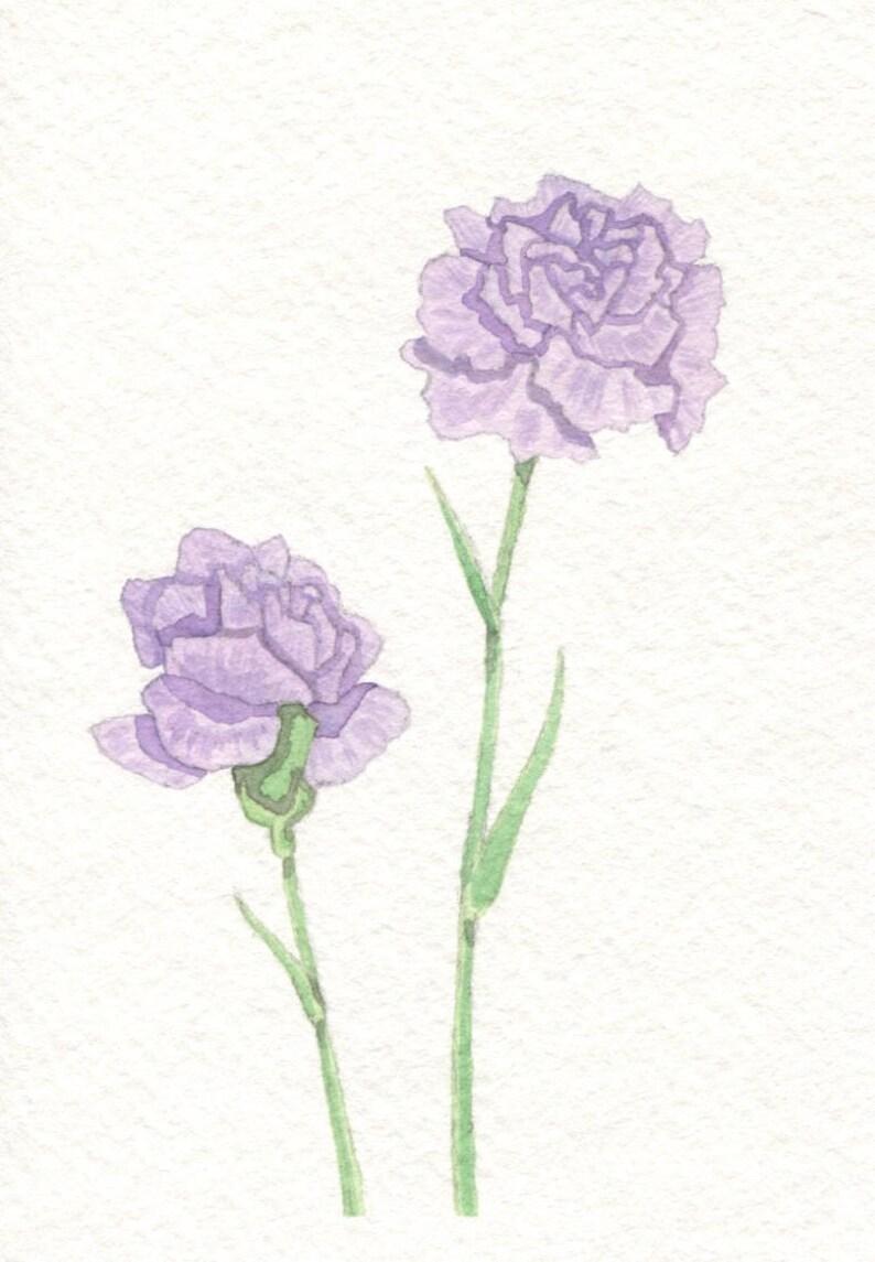 Purple Carnations Card image 0