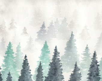 Forest Fog Painting