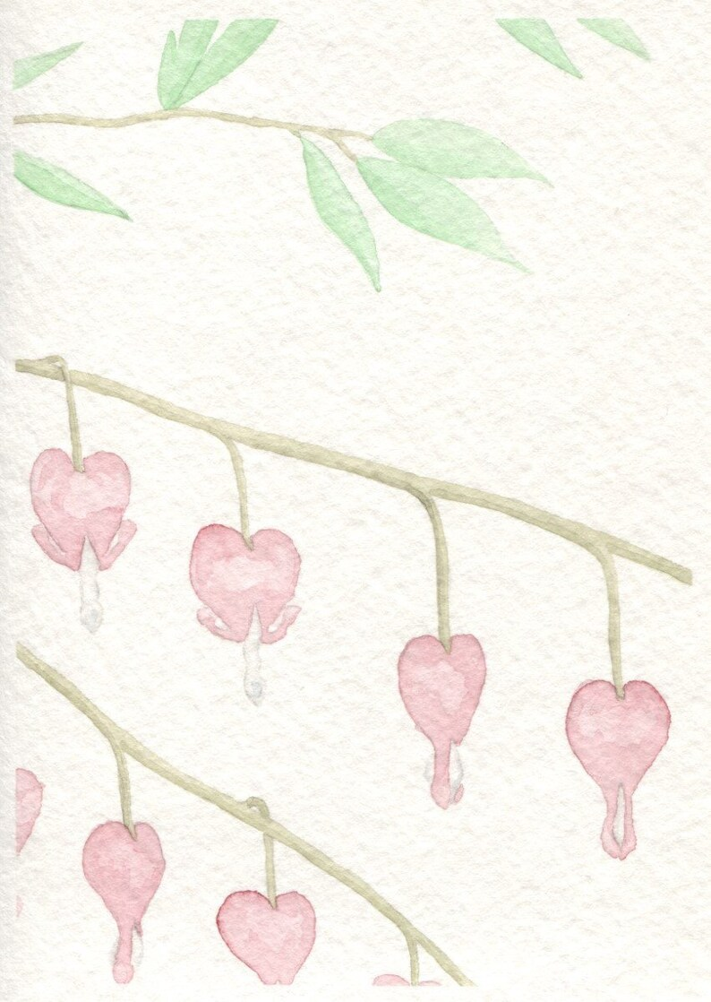 Bleeding Heart Card Vertical image 0