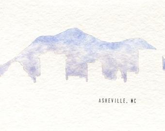 Asheville Skyline Card