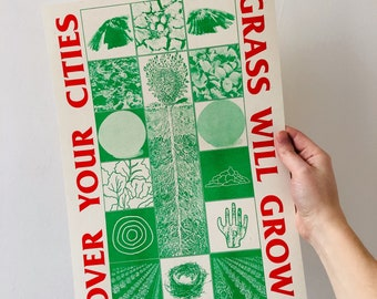 Over Your Cities Grass Will Grow A3 riso print