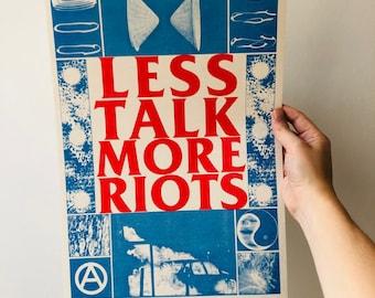 Less Talk More Riots A3 riso print