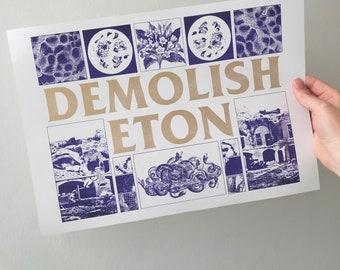 DEMOLISH ETON A3 riso print