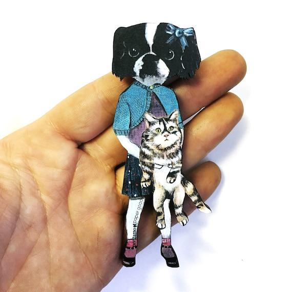 chien aimant aimant de r frig rateur animaux amoureux de chien cadeau de pendaison de. Black Bedroom Furniture Sets. Home Design Ideas
