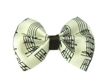 Musical Note Hair Bow, Music Hair Bow, hair bow for teens, hair bow clip, hair bow, Girls Hair Bow, Hairbow