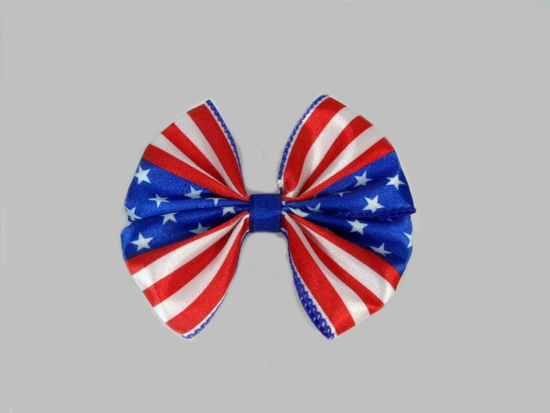 July 4th Hair Bow Patriotic Hair Bow Girls Hair Bow Stars image 0