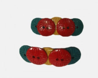 French Barrettes, Hair Clip, Christmas Hair Barrettes, Small Barrettes for Girls. Teens and Women