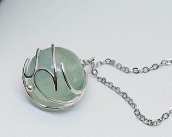 Final Fantasy VII Inspired Holy Materia Necklace - Green fluorite, Aerith