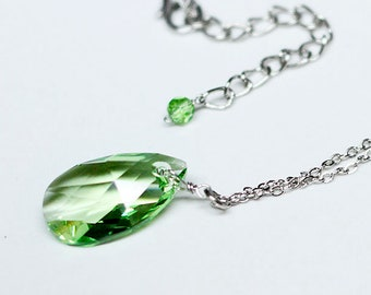 Marvel Avengers Infinity Stone - Time inspired Swarovski Crystal Necklace