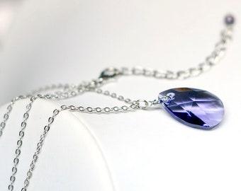 Marvel Avengers Infinity Stone - Power inspired Swarovski Crystal Necklace