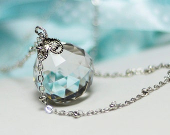 AS IS: Sailor Moon Silver  Illusion Crystal Necklace - 20mm