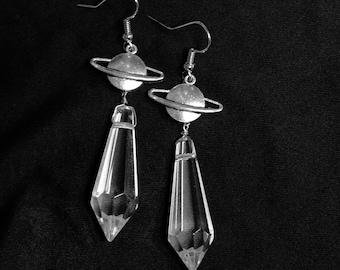 Sailor Saturn Planet Crystal Earrings
