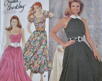 Simplicity 7799 Dress Sewing Pattern, UNCUT, Christie Brinkley Collection