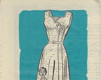 Anne Adams 4625 50s Dress, Bust 34 Vintage Sewing Pattern
