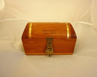 Vintage 40s-50s Wooden Box  Souvenir Jewelry Box  Grand Canyon  Mid Century  Vintage Arizona