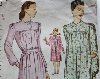 Simplicity 2210 1940s Nightgown 1891e86c5