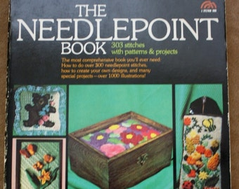 The Needlepoint Book by Jo Ippolito Christensen, Prentice Hall Press 1976, Vintage Softcover Book, Craft Book  Needlework