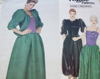 Vogue Paris Original Pattern 2834 Jacket and Skirt Vintage Sewing Pattern, Christian Dior 1980s, Bust 36