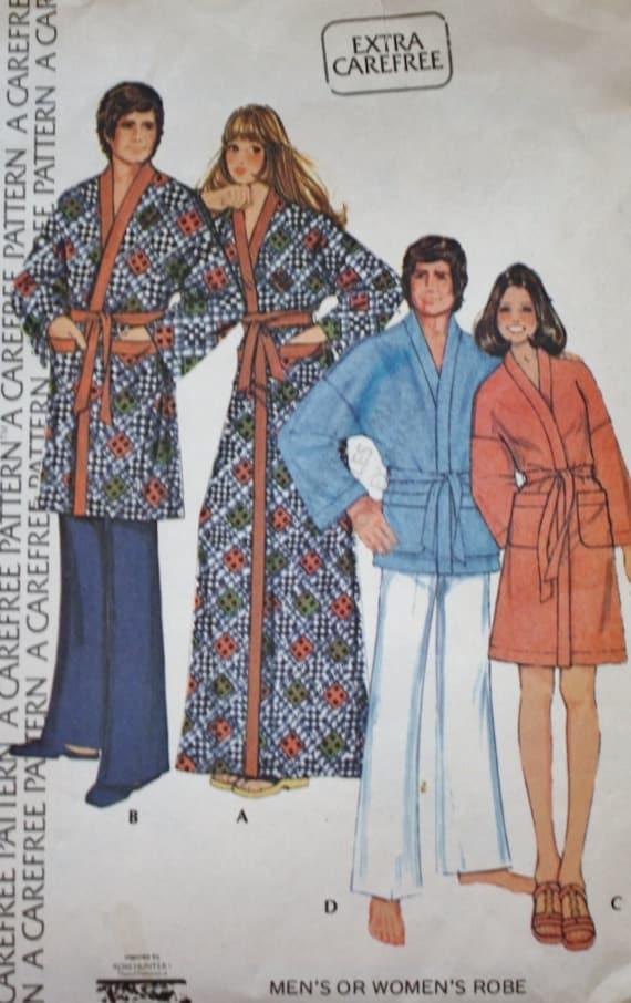 Mens Womens Robe Vintage Nähen Muster McCalls 3738-Größe | Etsy