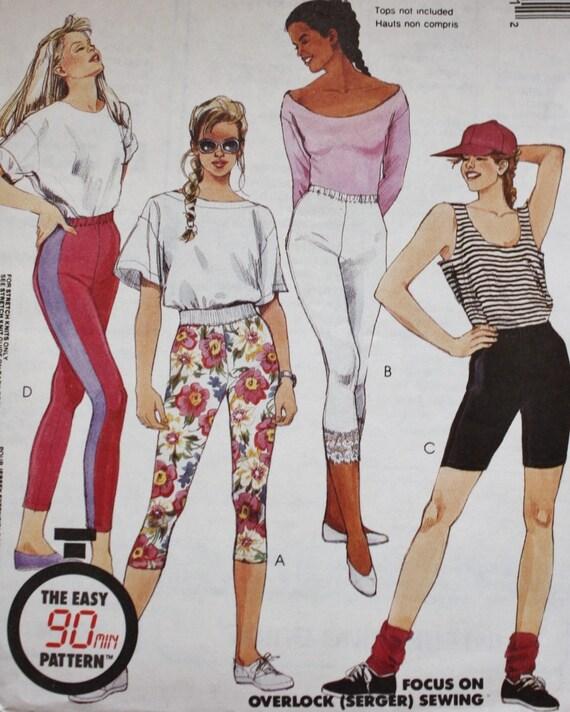 80er Jahre Damen Leggings Muster Freizeitkleidung sportliche | Etsy