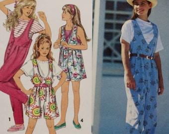 Simplicity 8504, Girls Jumpsuit Sewing Pattern, UNCUT