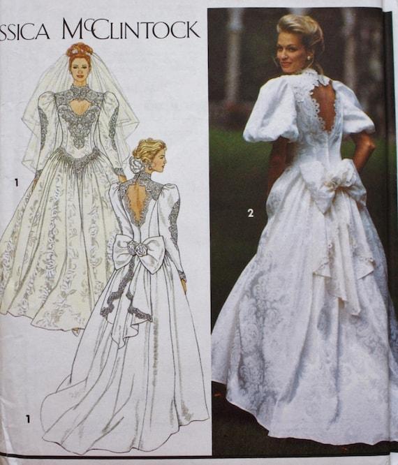 Wedding Dress Sewing Pattern Deep V Cut Out Bridal Etsy