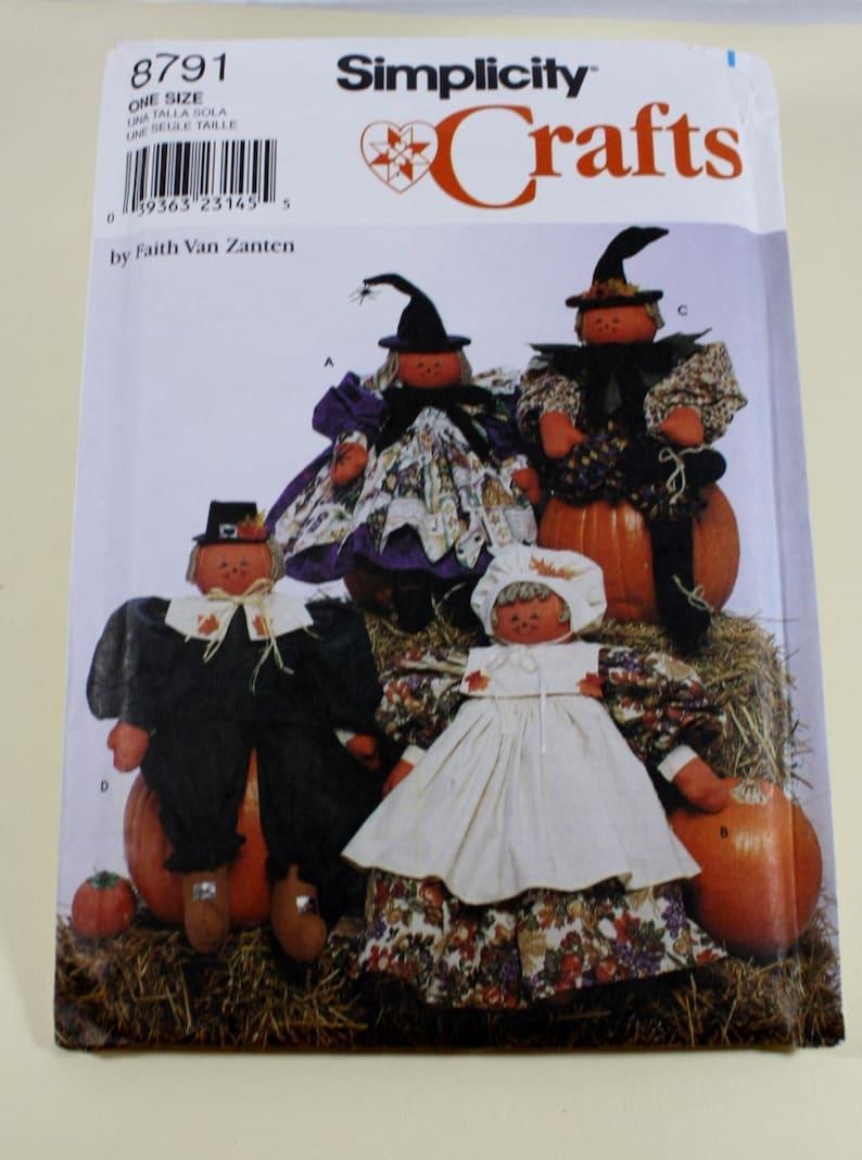 Thanksgiving Dolls Pattern Halloween Dolls Simplicity 8791 26 Inch Tall Dolls Sewing Pattern Uncut