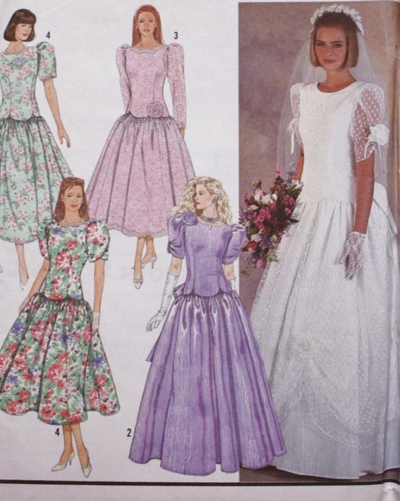 Wedding Dress Sewing Pattern/ Bridal Dress Pattern/Simplicity | Etsy
