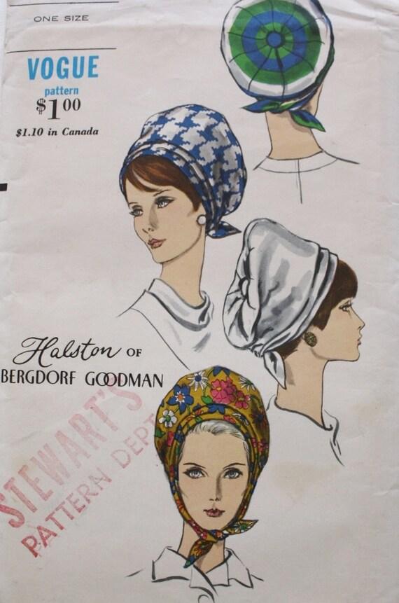 1960er Jahre Turban Hut Nähen Muster/Vogue 7152   Etsy