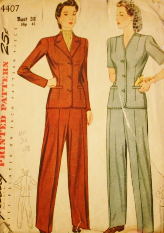 1940er Jahren Kriegszeit Hose Anzug Rosie der Nieter Hose   Etsy