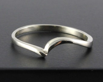 14K Gold Band - Swirl Design Band - Wedding Ring - Simple Band - Stackable Ring