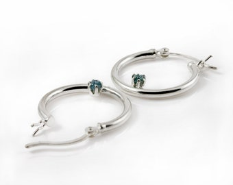 Lever Back Hoop Earrings