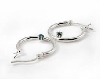 Lever Back Hoop Earrings