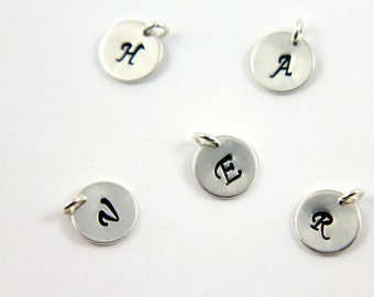 Add On Initial Sterling Silver Tag - Personalized Initial Disk