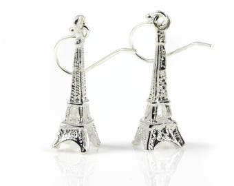 Eiffel Tower Earrings Sterling Silver - Mother's Day Gift - I Love Paris - French Collection - Valentine's Gift - Romantic Gift For Her