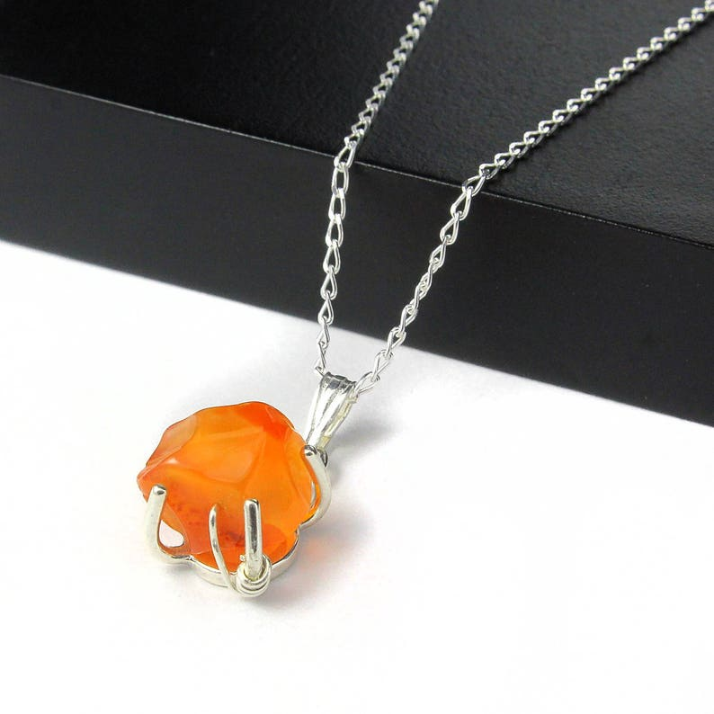Carnelian Necklace Sterling Silver  Mother's Day Gift  image 0