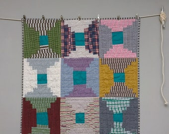 Improv Courthouse Steps Baby Quilt