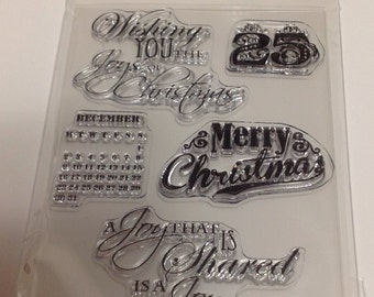 SALE Texture Clear Stamp - St. Nicholas Collection