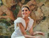 L'AMOUR   Golden vine bridal crown